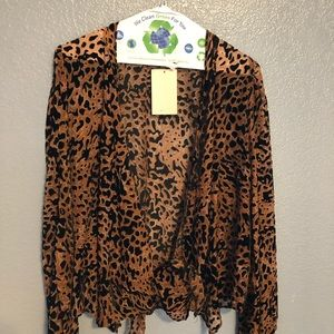 Leopard Print top NEVER WORN WITH TAGS
